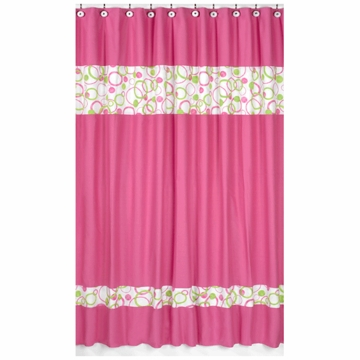 Sweet JoJo Designs Circles Pink Shower Curtain