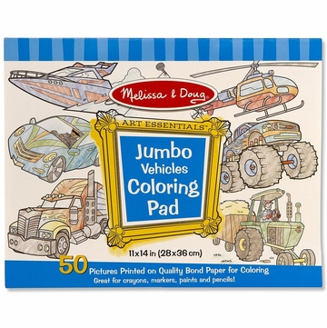 Melissa & Doug Jumbo Coloring Pad - Vehicles