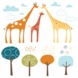 Skip Hop Giraffe Safari Wall Decals