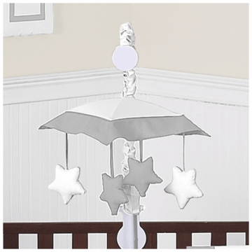 Sweet JoJo Designs Hotel White & Gray Musical Mobile