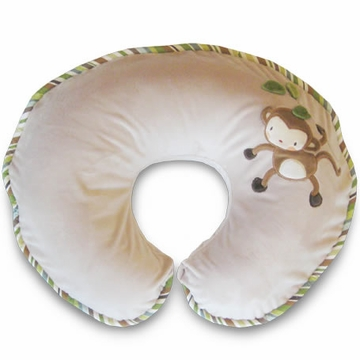 Boppy Pillow with Luxe Slipcover - Monkey Around