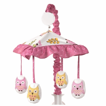 Sweet JoJo Designs Owl Pink Musical Mobile