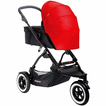 Phil & Teds Dot Carry Cot Sunhood - Chilli