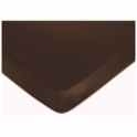 Sweet JoJo Designs Bella Turquoise Crib Sheet in Espresso Brown