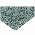 Sweet JoJo Designs Bella Turquoise Crib Sheet in Damask Print