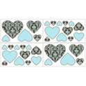 Sweet JoJo Designs Bella Turquoise Wall Decals