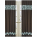 Sweet JoJo Designs Bella Turquoise Window Panels