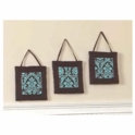Sweet JoJo Designs Bella Turquoise Wall Hangings