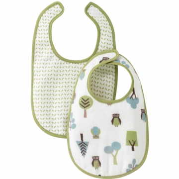 DwellStudio Owls Multi Muslin Bib Set