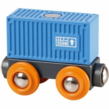 Brio Blue Container Wagon