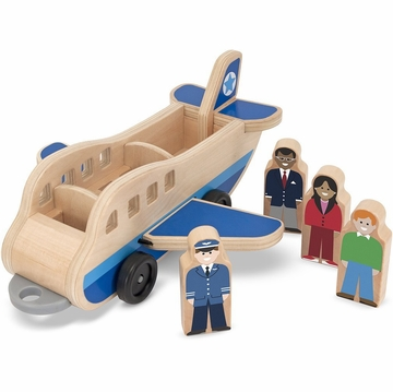Melissa & Doug Whittle World - Plane and Luggage Carrier Set