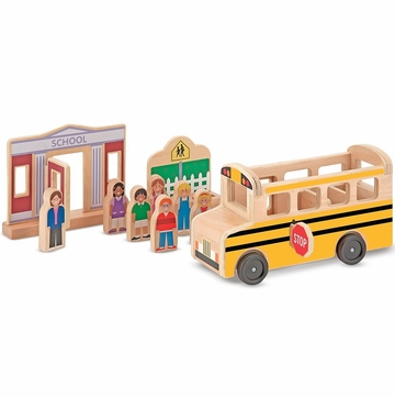 Melissa & Doug Whittle World - School Bus Set