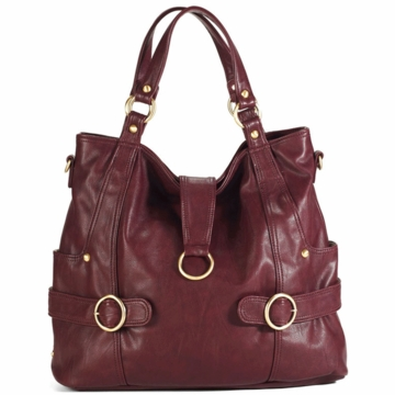 Timi & Leslie Hannah Diaper Bag in Burgundy