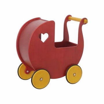 HABA Moover Doll Pram - Red