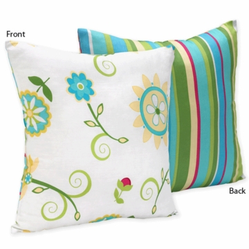 Sweet JoJo Designs Layla Print & Stripe Decortative Throw Pillow