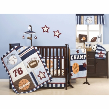 KidsLine Sports 4 Piece Crib Bedding Set