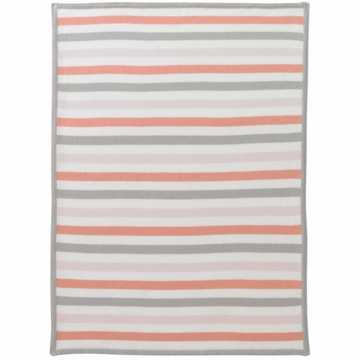 DwellStudio Multi Stripe Blossom Graphic Knit Blanket