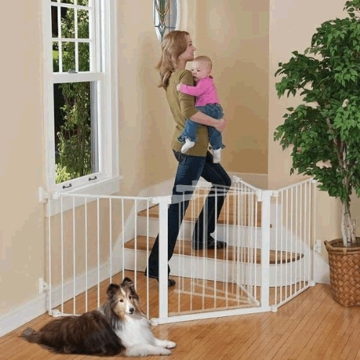 Kidco Auto Close Configure Gate - White