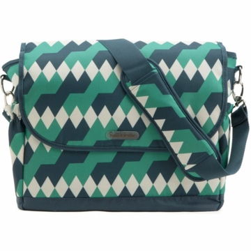 Timi & Leslie Messenger Diaper Bag in Emerald Lagoon