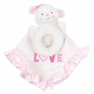 Carter's Snuggle Me Blankie & Rattle - White Lamb