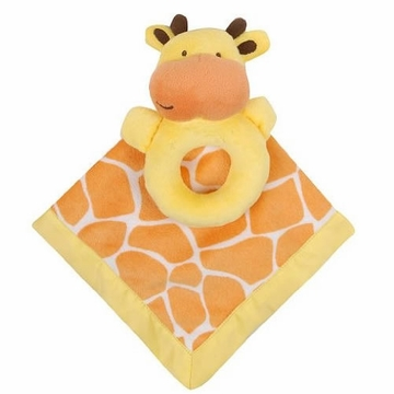 Carter's Snuggle Me Blankie & Rattle - Orange Giraffe