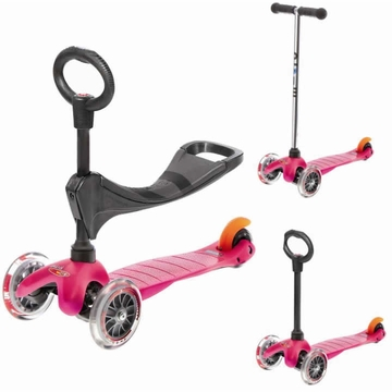 Kickboard USA Mini Micro 3-in-1 Scooter - Pink