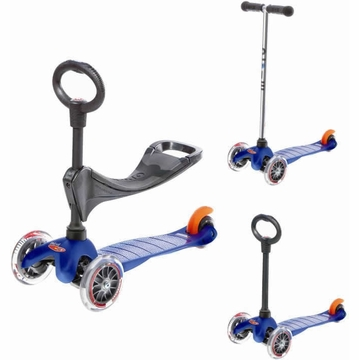 Kickboard USA Mini Micro 3-in-1 Scooter - Blue