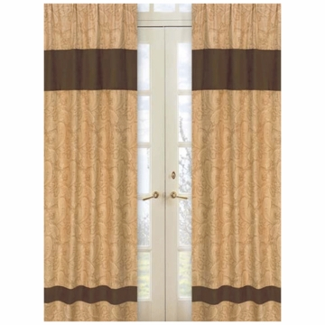 Sweet JoJo Designs Camel Paisley Window Panels