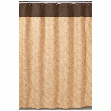 Sweet JoJo Designs Camel Paisley Shower Curtain