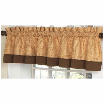 Sweet JoJo Designs Camel Paisley Window Valance