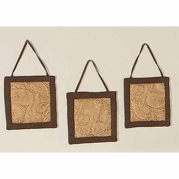 Sweet JoJo Designs Camel Paisley Wall Hangings