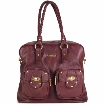 Timi & Leslie Rachel Diaper Bag in Burgundy