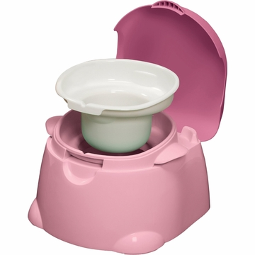 Safety 1st Comfy Cushy Potty Trainer & Step Stool - Pink