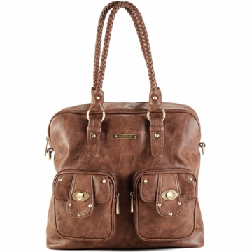 Timi & Leslie Rachel Diaper Bag in Caramel