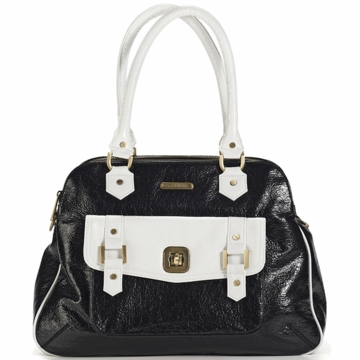 Timi & Leslie Sophia Diaper Bag in Black/White
