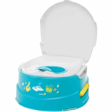 Safety 1st Musical Talkin Potty Trainer and Step Stool - Blue