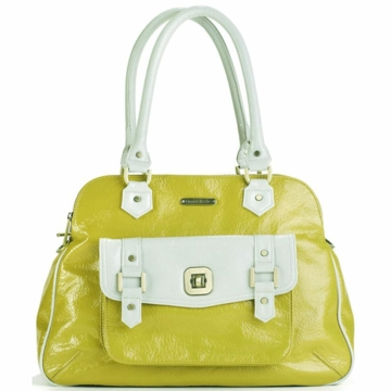 Timi & Leslie Sophia Diaper Bag in Lemon Yellow/Shadow White
