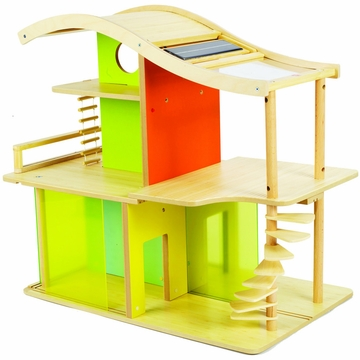 Hape Bamboo Sunshine Dollhouse (Unfurnished)