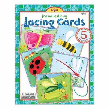 EeBoo Friendliest Bug Lacing Cards