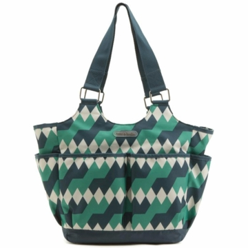 Timi & Leslie Tag-a-long Tote Diaper Bag in Emerald Lagoon