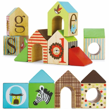 Skip Hop Alphabet ZOO House Blocks