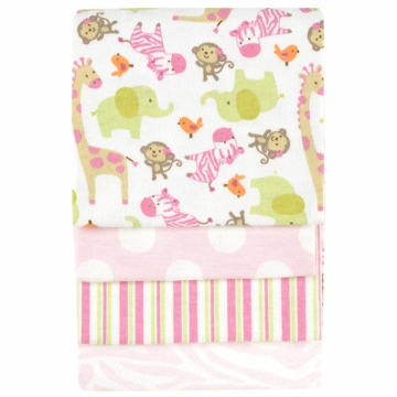 Carter's Zebra 4-Pack Receiving Blankets
