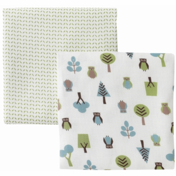 DwellStudio Owls Multi Swaddle Blankets - 2 Pack
