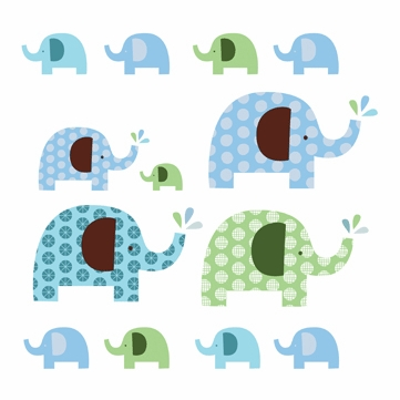 Skip Hop Elephant Parade Wall Decals