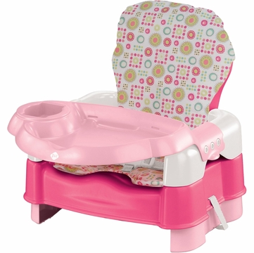 Safety 1st Deluxe Sit Snack & Go Convertible Booster - Pink with Full Pad
