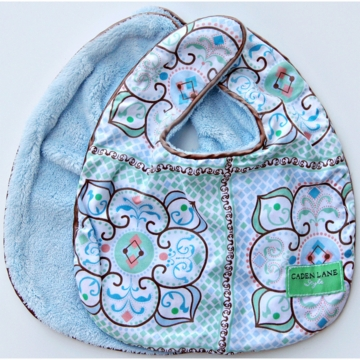 Caden Lane 2 Piece Bib Set in Blue Large Morrocan