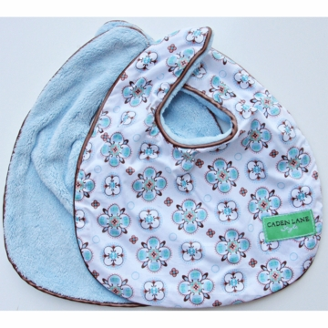 Caden Lane 2 Piece Bib Set in Blue Small Morrocan