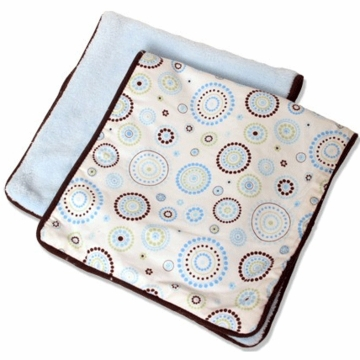 Caden Lane 2 Piece Burp Set in Blue Circle Dot