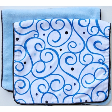 Caden Lane 2 Piece Burp Set in Blue Dark Swirl