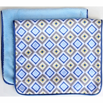 Caden Lane 2 Piece Burp Set in Blue Diamond